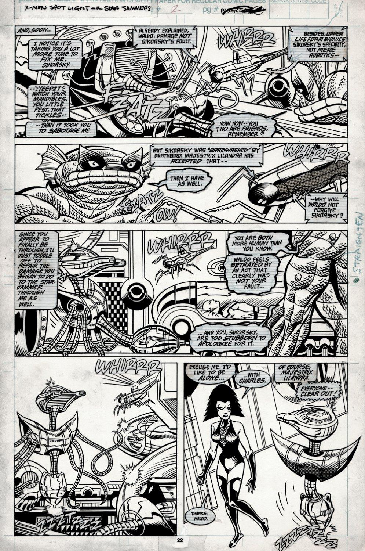 X-Men Spotlight on... Starjammers #2 p 22 (Sikorsky, Ch'od, Waldo, Princess Lilandra) 1990