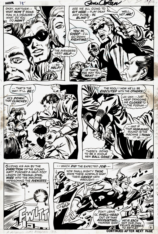 Daredevil #73 p 6 (MURDOCK, THOR, IRON MAN, CAPTAIN AMERICA!) 1970