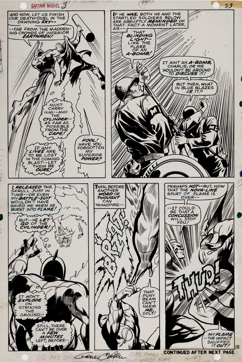 Captain Marvel #3 p 18 (Captain Marvel Battles Super Skrull!) 1968