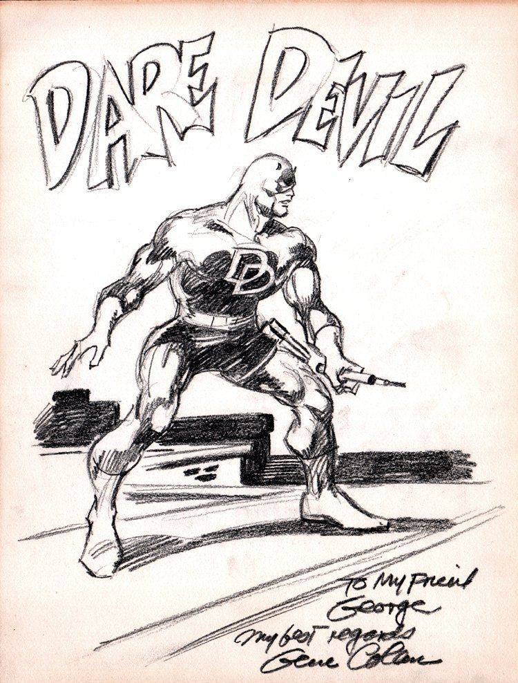 Daredevil Detailed Pinup! (1980's)