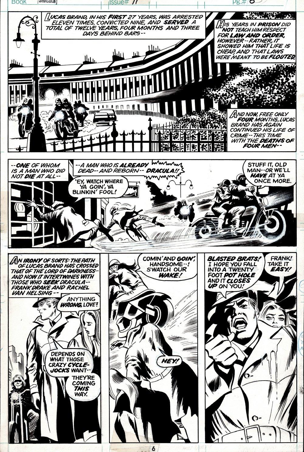 Tomb of Dracula #11 p 6 (Lucas Brand 'DIES', Frank Drake, Rachel Van Helsing!) 1973