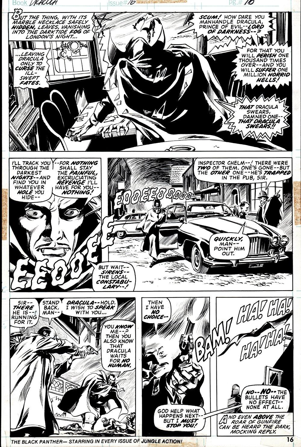 Tomb of Dracula #16 p 16 (DRACULA BATTLE PAGE!) 1973