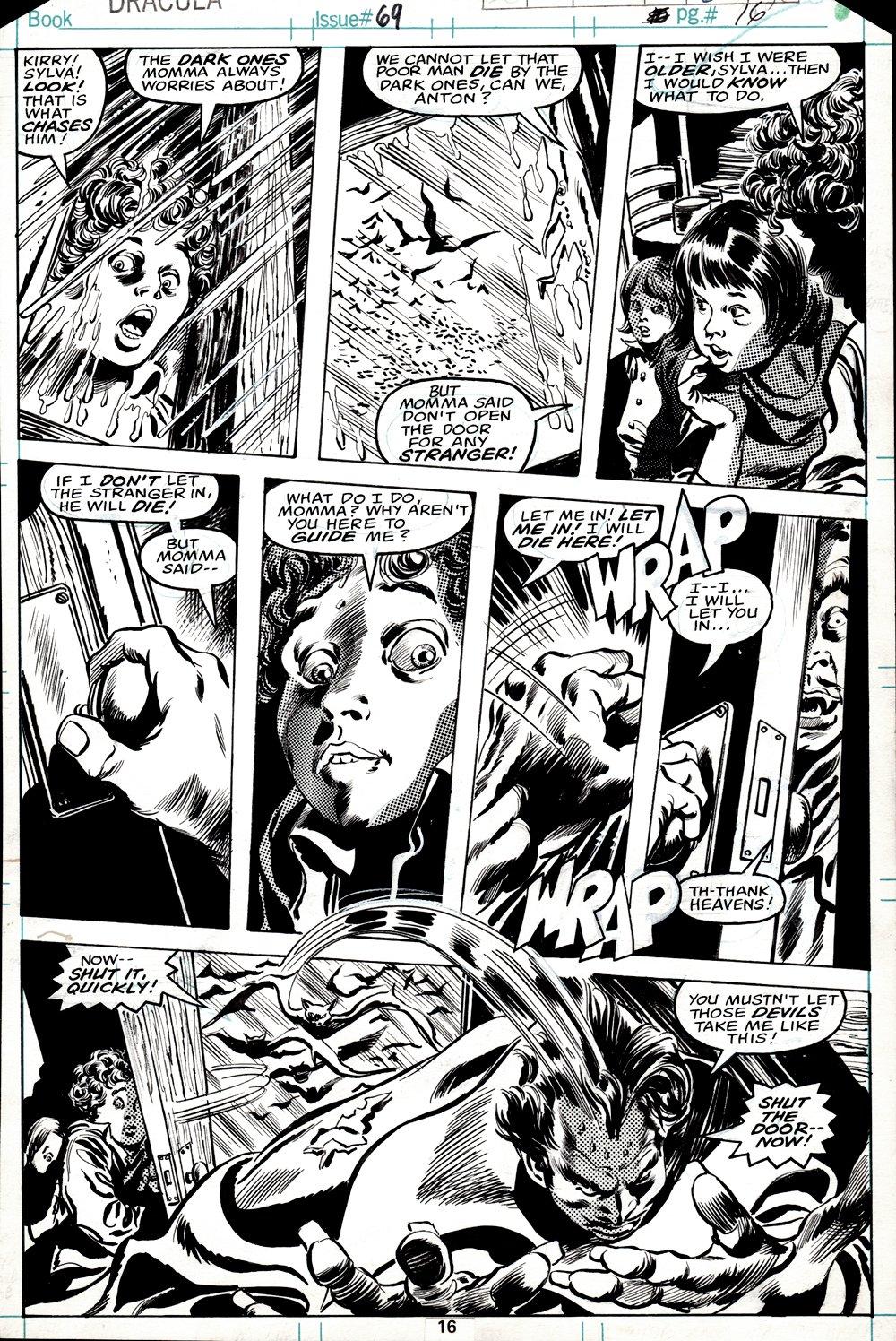 Tomb of Dracula #69 p 16 (DRACULA THROUGHOUT!) 1978