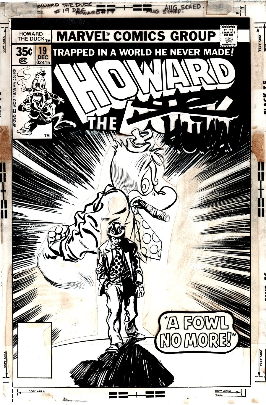 Howard the Duck #19 Cover (1977)