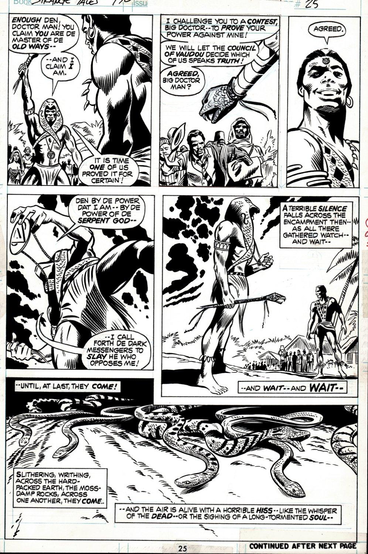 Strange Tales #170 p 25 (Brother VooDoo Battles Damballah!) 1973