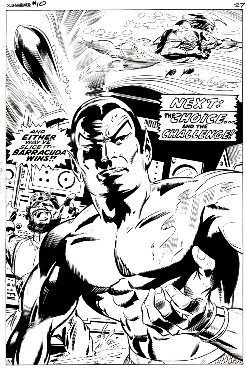 Sub-Mariner #10 FULL SPLASH (HUGE SUB-MARINER!) 1968