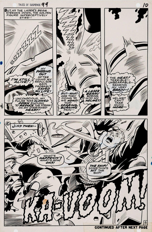 Tales of Suspense #99 p 9 (HALF SPLASH COVER SCENE!) 1967