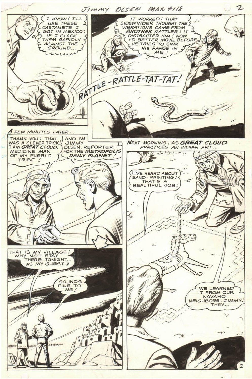 Jimmy Olsen #118 p 2 (Jimmy Olsen Saves A Medicine Man's Life!) 1968