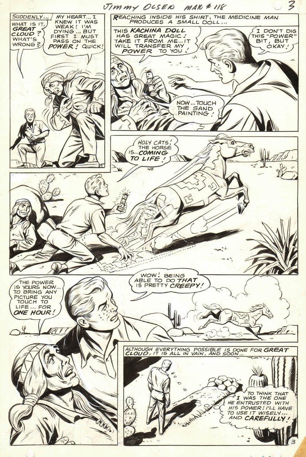 Jimmy Olsen #118 p 3 (Jimmy Olsen Gets Medicine Man's Magic Power!) 1968