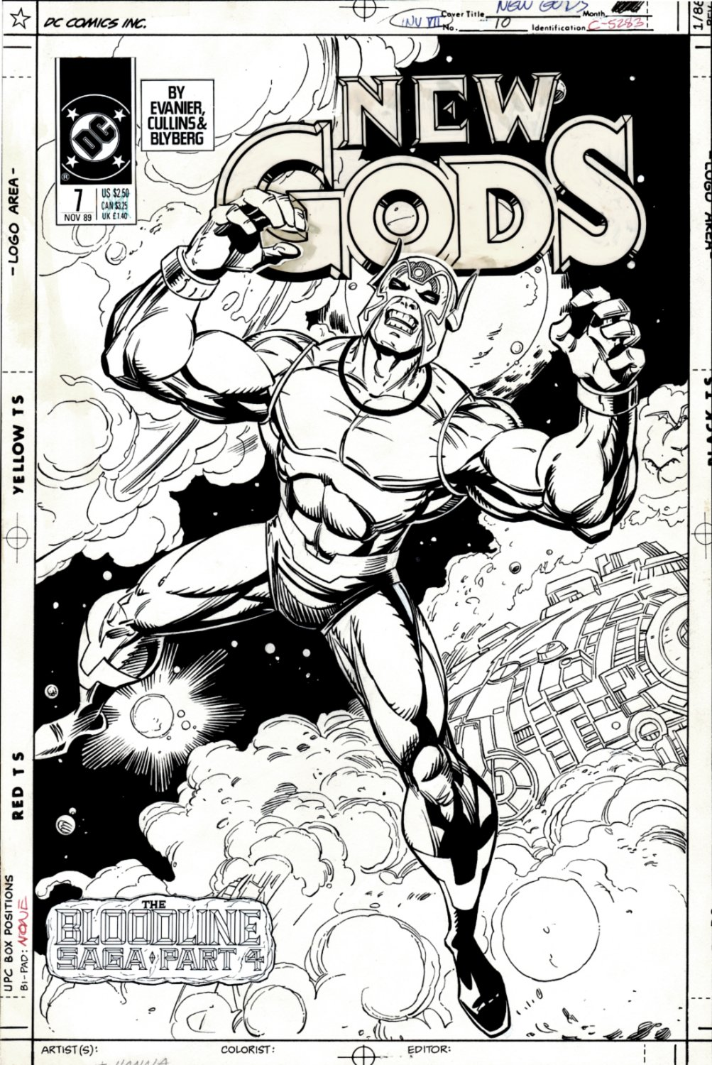 New Gods #10 Cover (SOLD LIVE ON 'DUELING DEALERS OF COMIC ART' EPISODE #38 PODCAST ON 9-29-2021(RE-WATCH THIS FUNNY ART SELLING SHOW HERE)