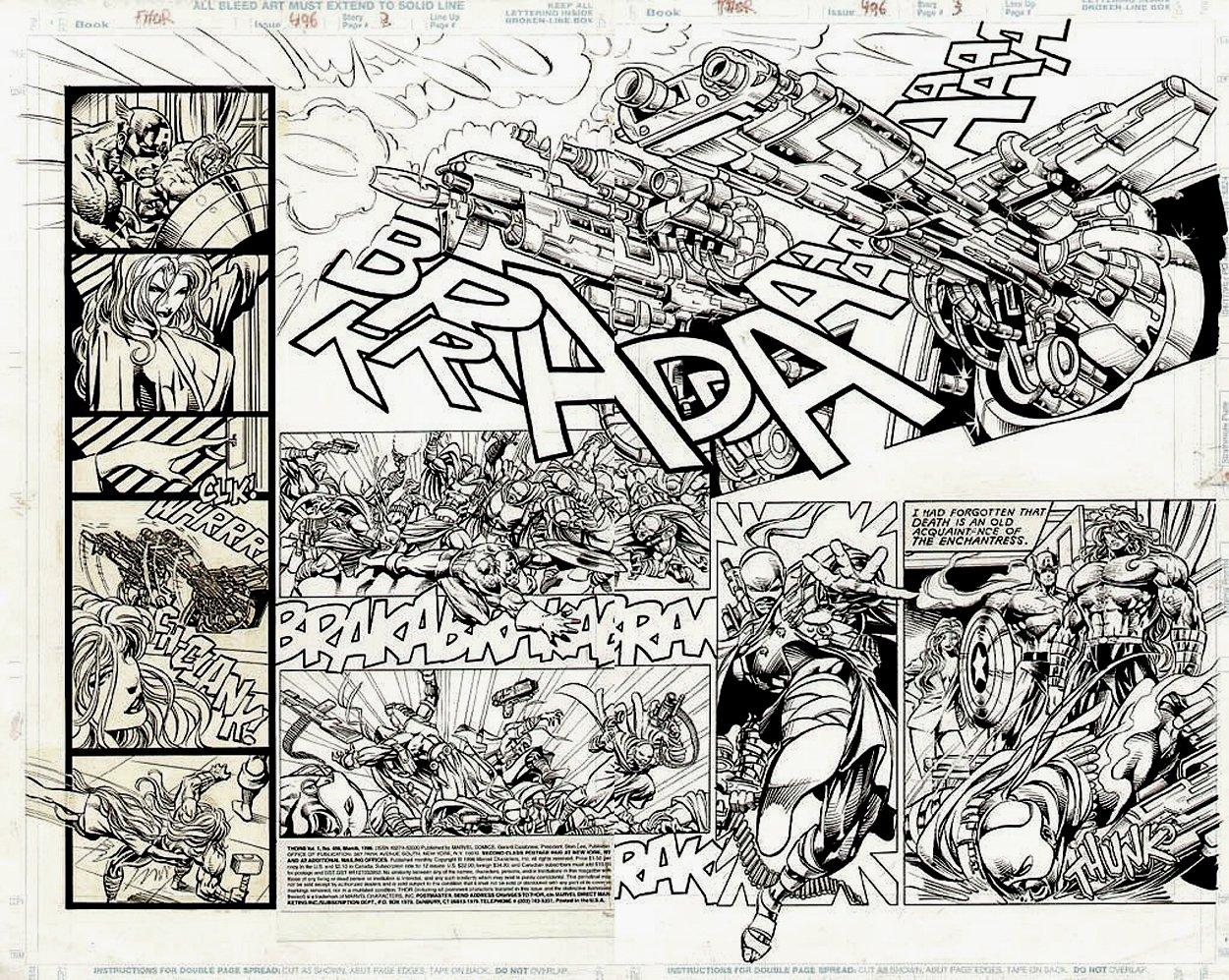 THOR #496 p 2-3 Double Spread Splash (1996)