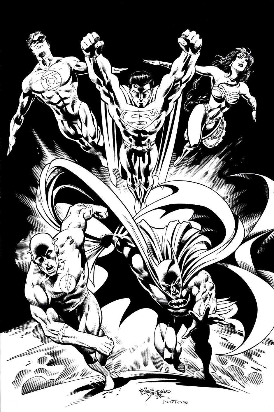 JLA Cover Quality Pinup