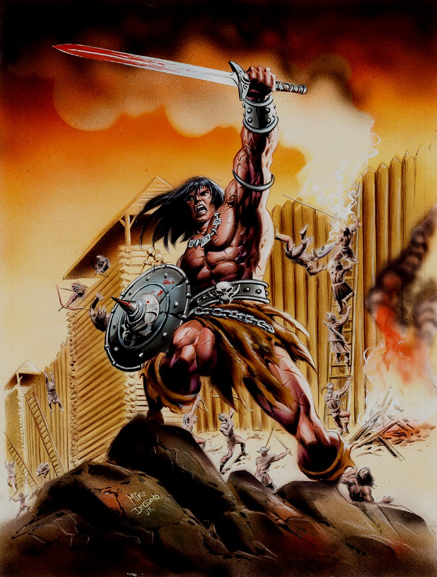 Conan The Barbarian #165 Cover Painting (Brazilian Issue) 1990s
