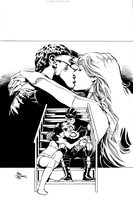 X-Men Unlimited #11 Cover (Cyclops, White Queen, Havok, Rachel Summers!) 2005
