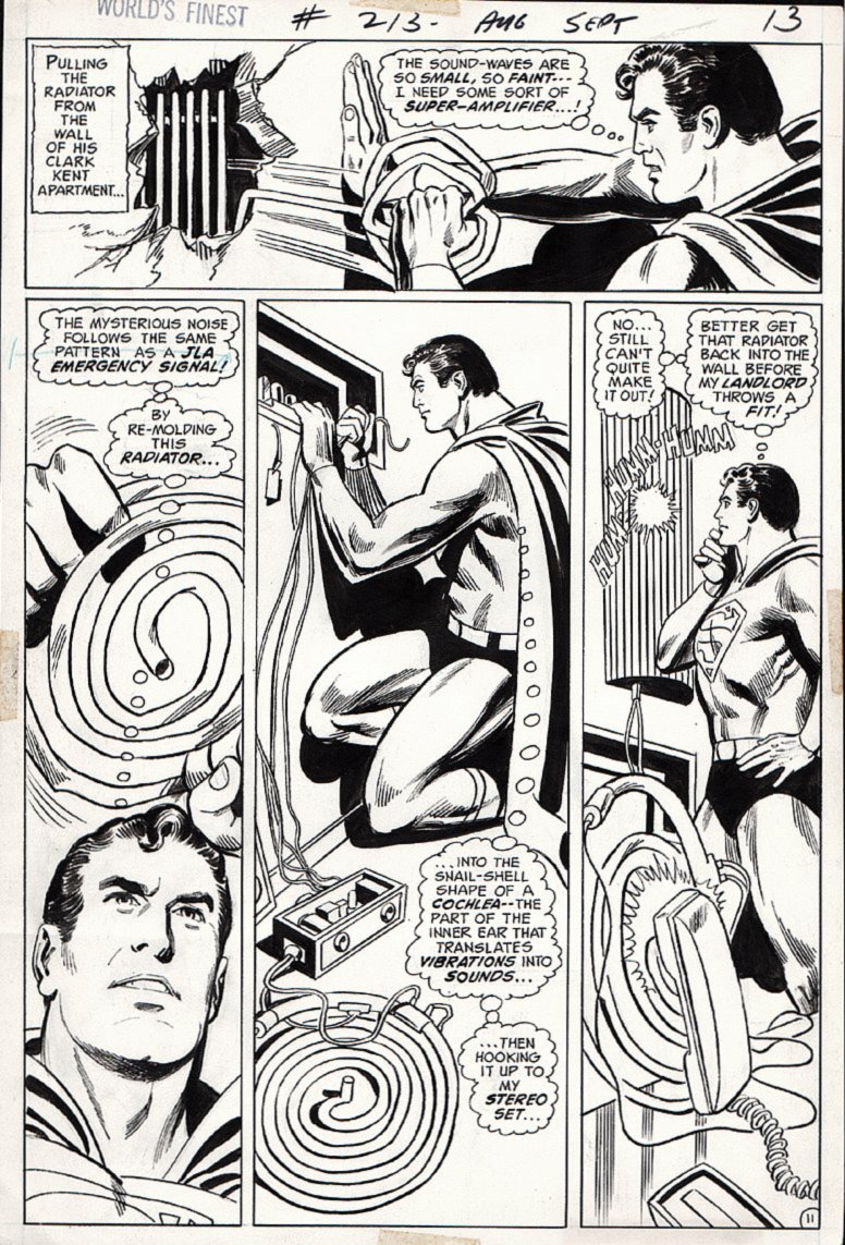 World's Finest Comics #213 p 11 (SUPERMAN IN EVERY PANEL!) 1972)
