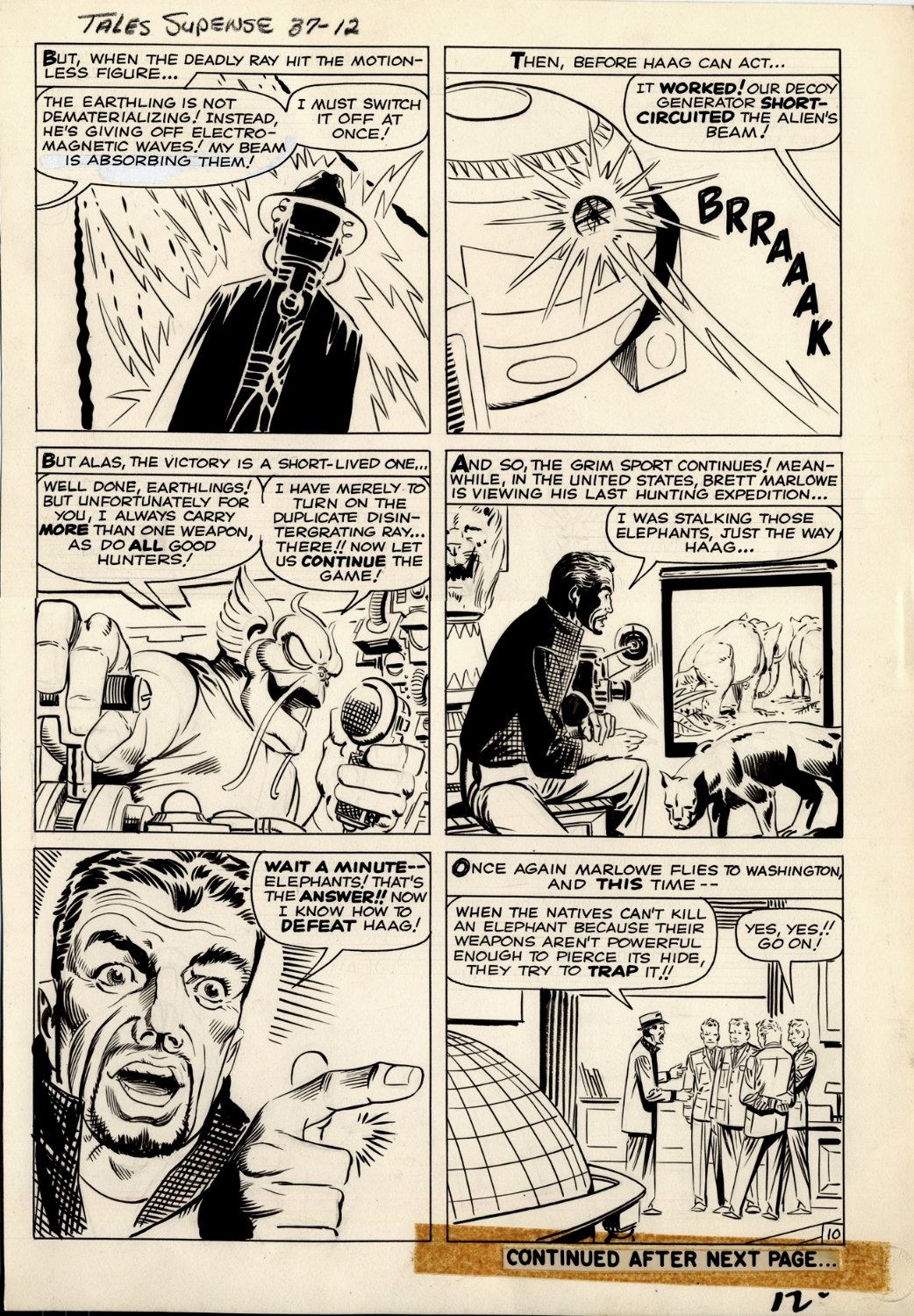 Tales of Suspense #37 p 10 (ALL STEVE DITKO LARGE ART DRAWN JUST 2 MONTHS BEFORE ASM #1!) 1962