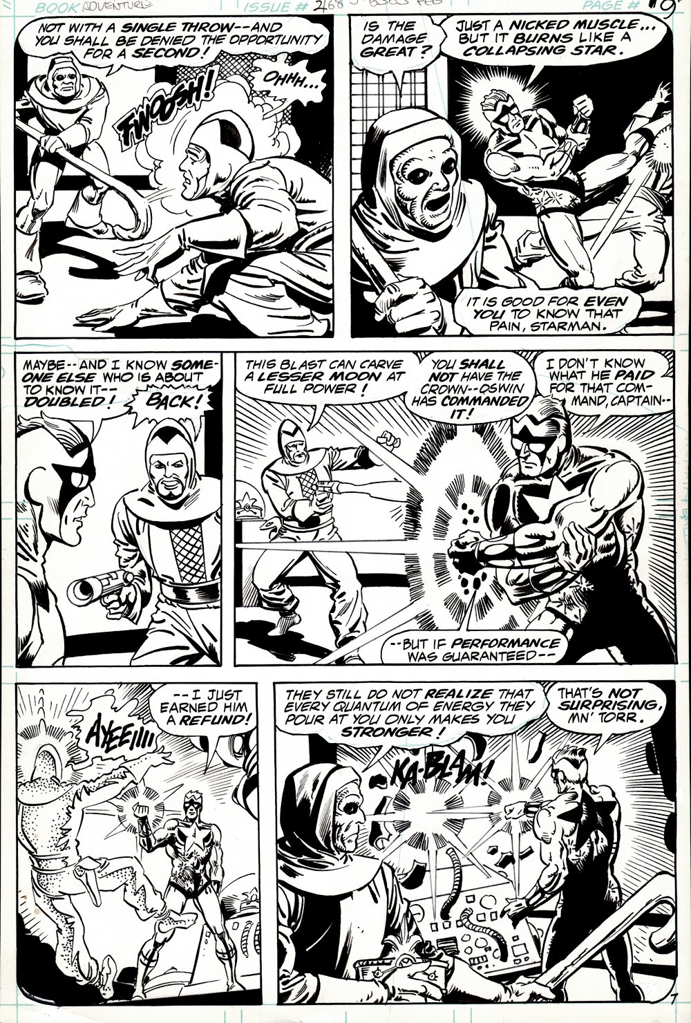 Adventure Comics #468 p 7 (STEVE DITKO BRONZE AGE 'STARMAN' BATTLE PAGE! 1979