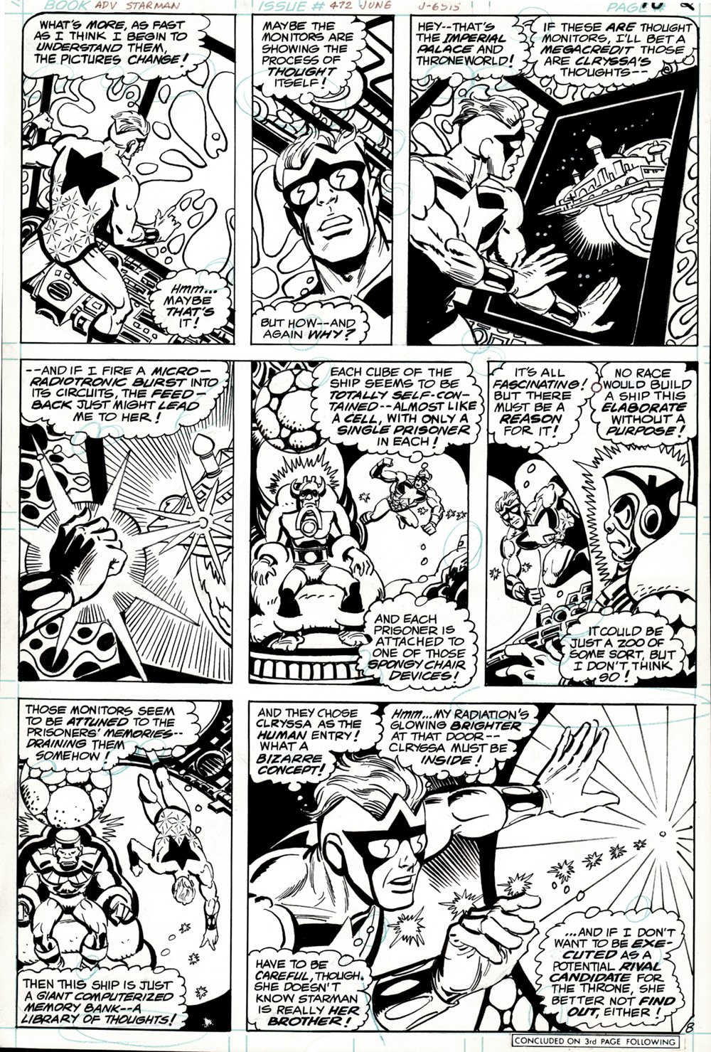 Adventure Comics #472 p 8 (STEVE DITKO BRONZE AGE 'STARMAN' BATTLES IN EVERY PANEL! 1980