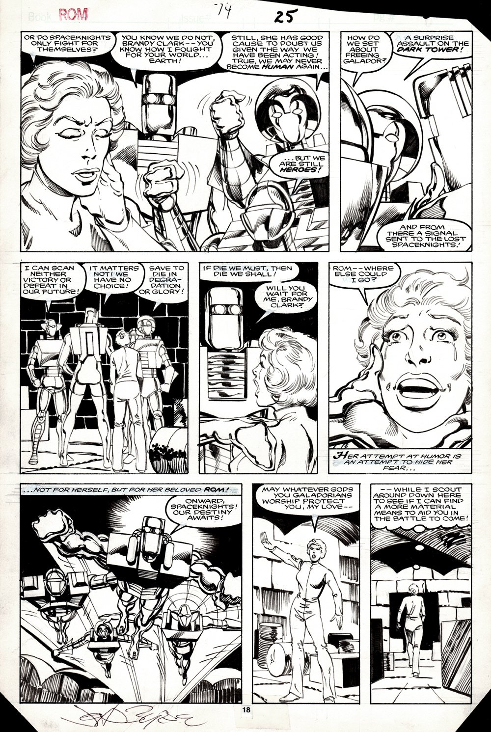 ROM #74 p 18 (SUPERB ONLY DITKO/ BYRNE ROM STORY!) 1985
