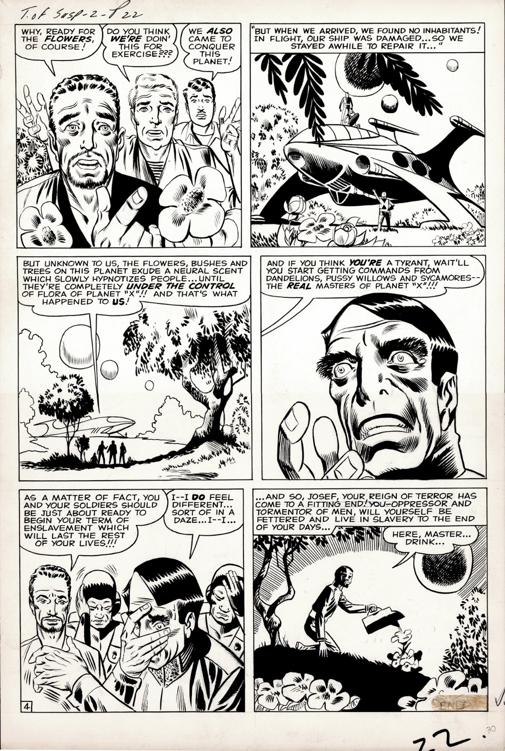 Tales of Suspense #2 p 4 (ALL STEVE DITKO LARGE ART DRAWN MARVEL PAGE, 4 YEARS BEFORE AMAZING FANTASY #15!) Large Art - 1958