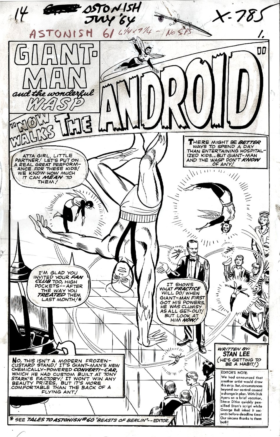 Tales to Astonish #61 p 1 SPLASH (Large Art) 1964
