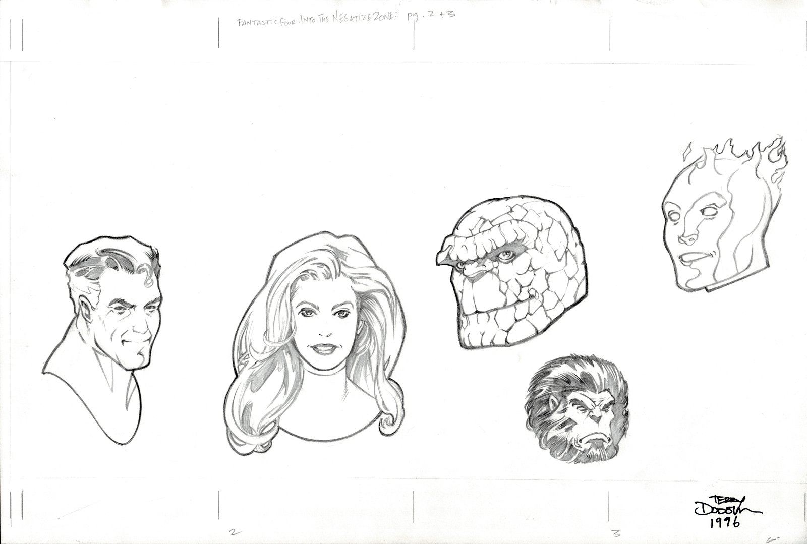 Fantastic Four: Into The Negative Zone p 2-3 (ENTIRE TEAM PINUP & BLASTAAR!) 1996