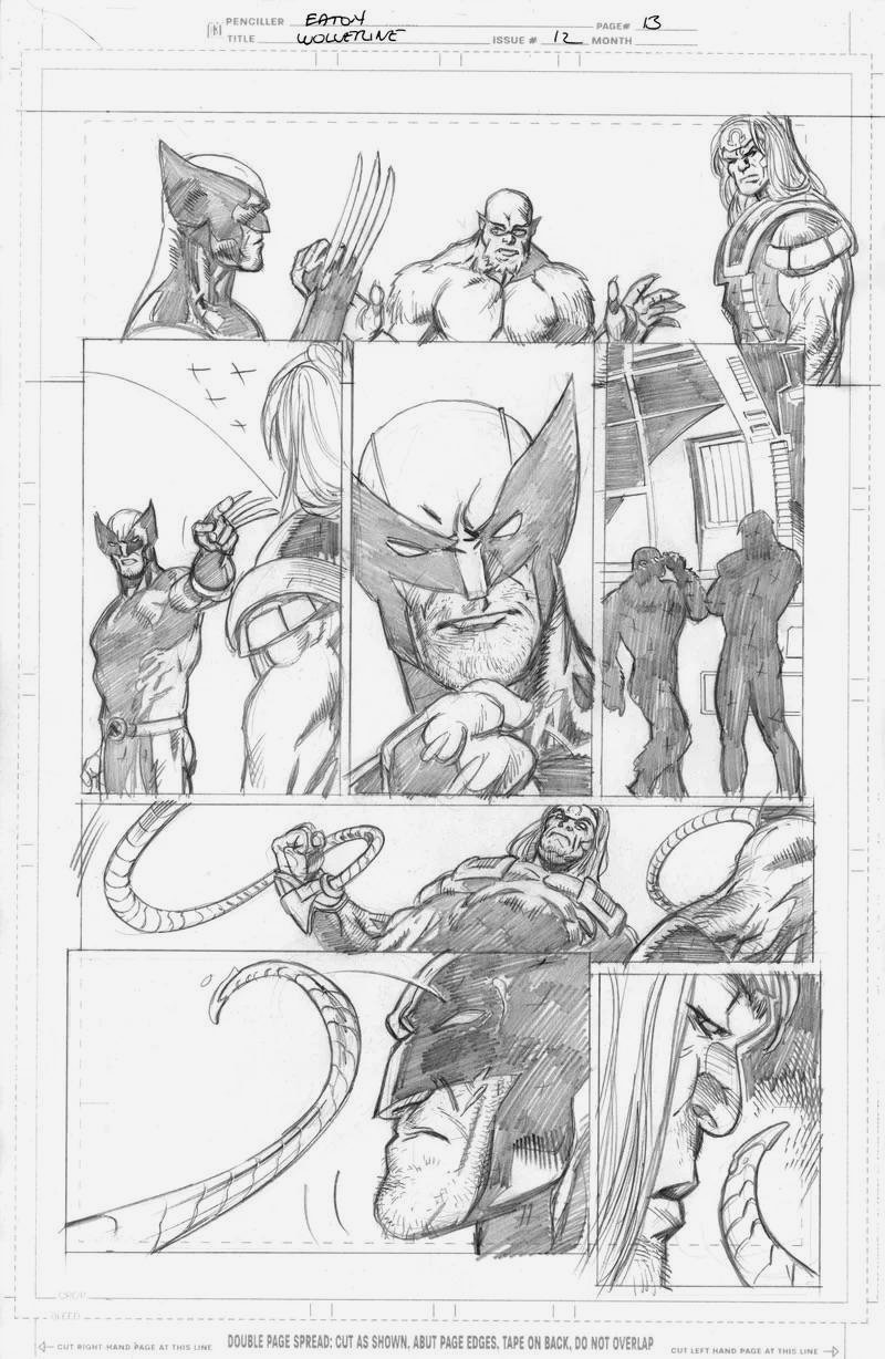 Wolverine #12 p13(SOLD LIVE ON 'DUELING DEALERS OF COMIC ART' EPISODE #28 PODCAST ON 8-2-2021 (RE-WATCH THIS FUNNY ART SELLING SHOW HERE)