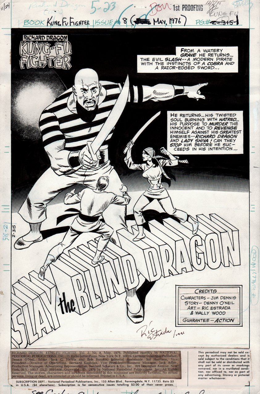 Richard Dragon, Kung-Fu Fighter #8 p 1 SPLASH (1976)