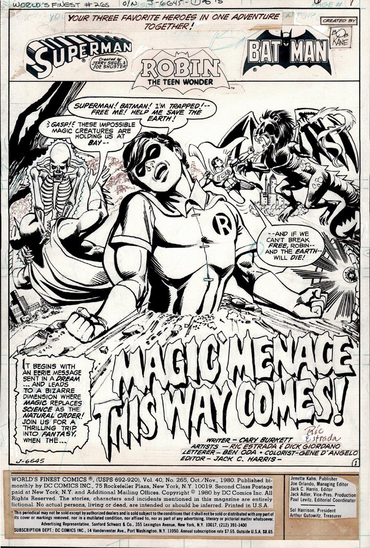 World's Finest Comics #265 p 1 SPLASH (1980)