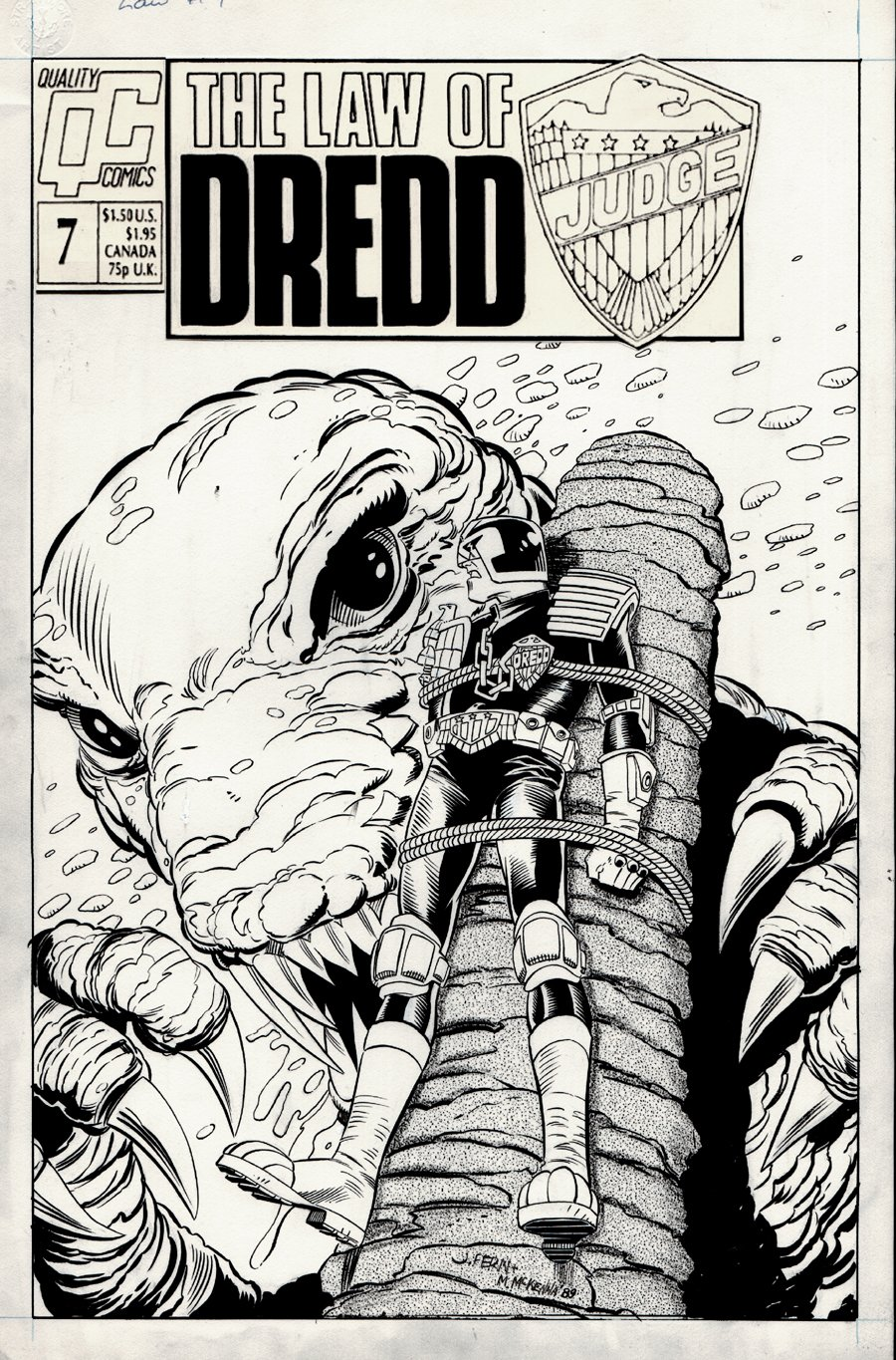 The Law of Dredd #7 Cover (1989)