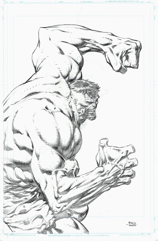 Incredible Hulk Detailed Large Pinup (2009)