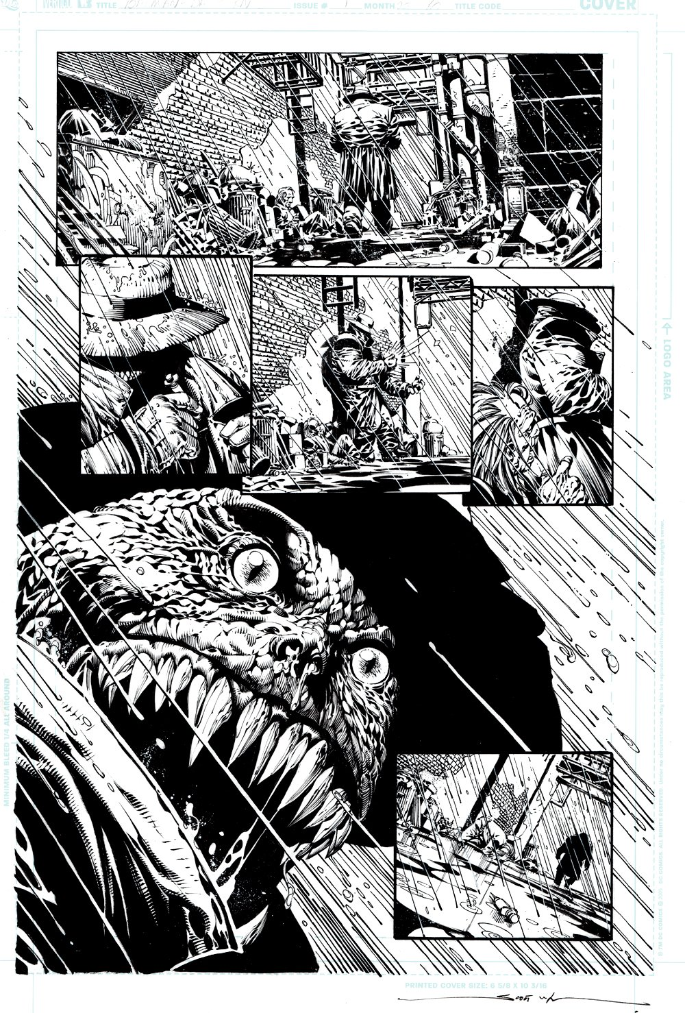Batman: The Dark Knight #1 p 10 (FIRST ISSUE! AWESOME KILLER CROC!) 2011