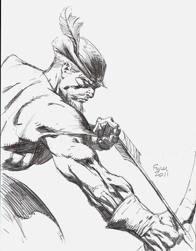 Green Arrow Detailed Pinup (2011)