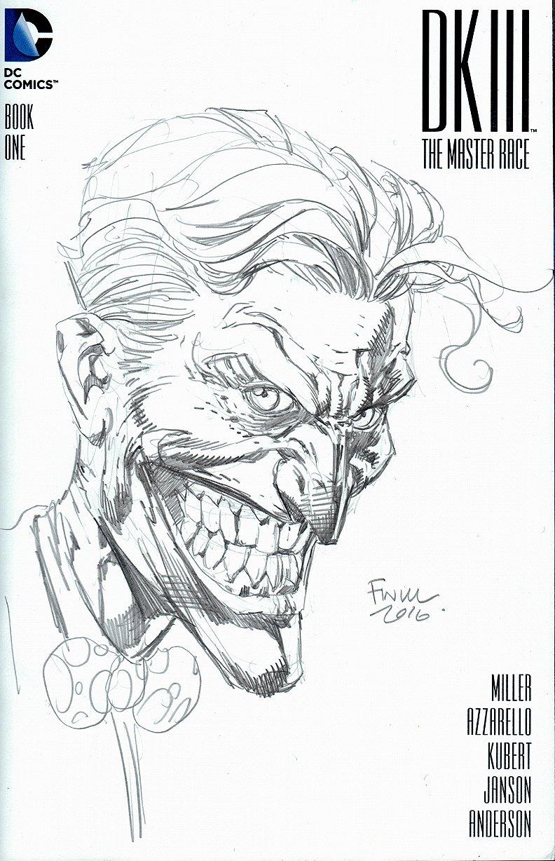 Joker Sketch Cover Drawn on DKIII Book (2016)