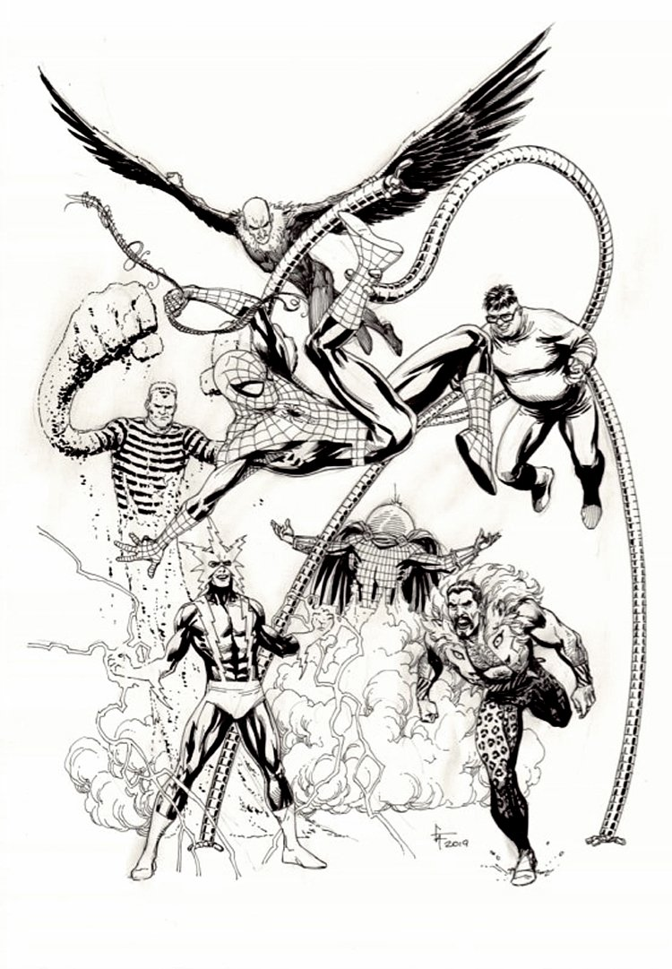 Amazing Spiderman Annual #1 Cover Recreation (Spidey Battles The Sinister Six!)