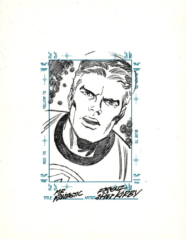MR. FANTASTIC Sketchagraph Card Drawing (JACK KIRBY HOMAGE!)