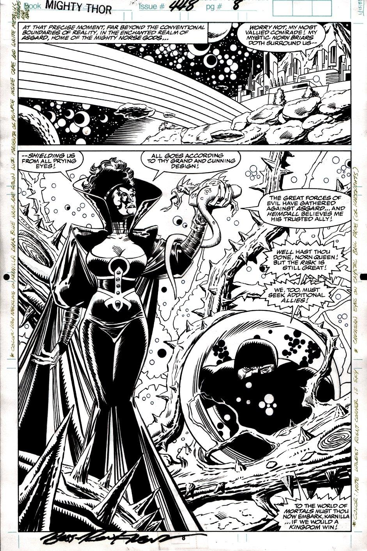 Thor #448 p 8 SPLASH (RAINBOW BRIDGE, KARNILLA!) 1992