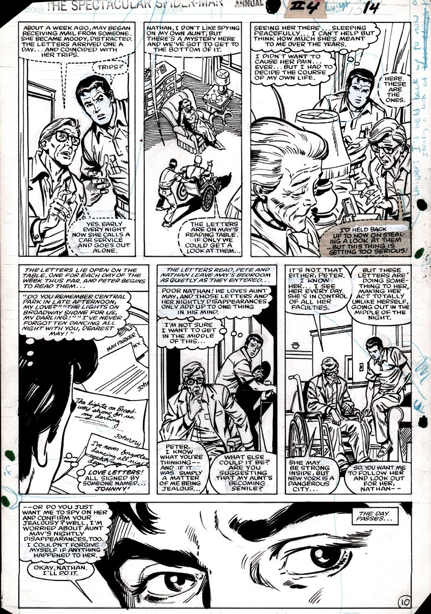 Spectacular Spider-Man Annual #4 p 10 (JOHN ROMITA SR. PETE FACE TOUCH-UPS!) 1984