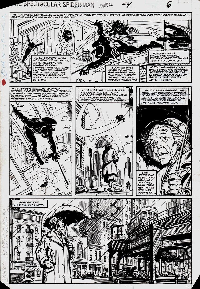 Spectacular Spider-Man Annual #4 p 5 (FIRST YEAR BLACK SPIDER-MAN!) 1984