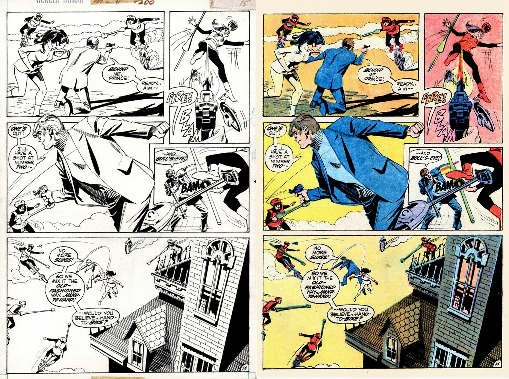 Wonder Woman #200 p 14 (Wonder Woman &Jonny Double Battle Doctor Cyber's Female Fighters!) 1972