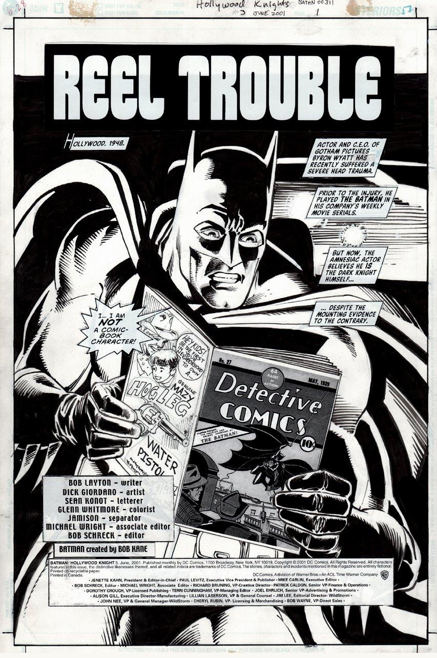 Batman: Hollywood Knight #3 p 1 SPLASH (2001)