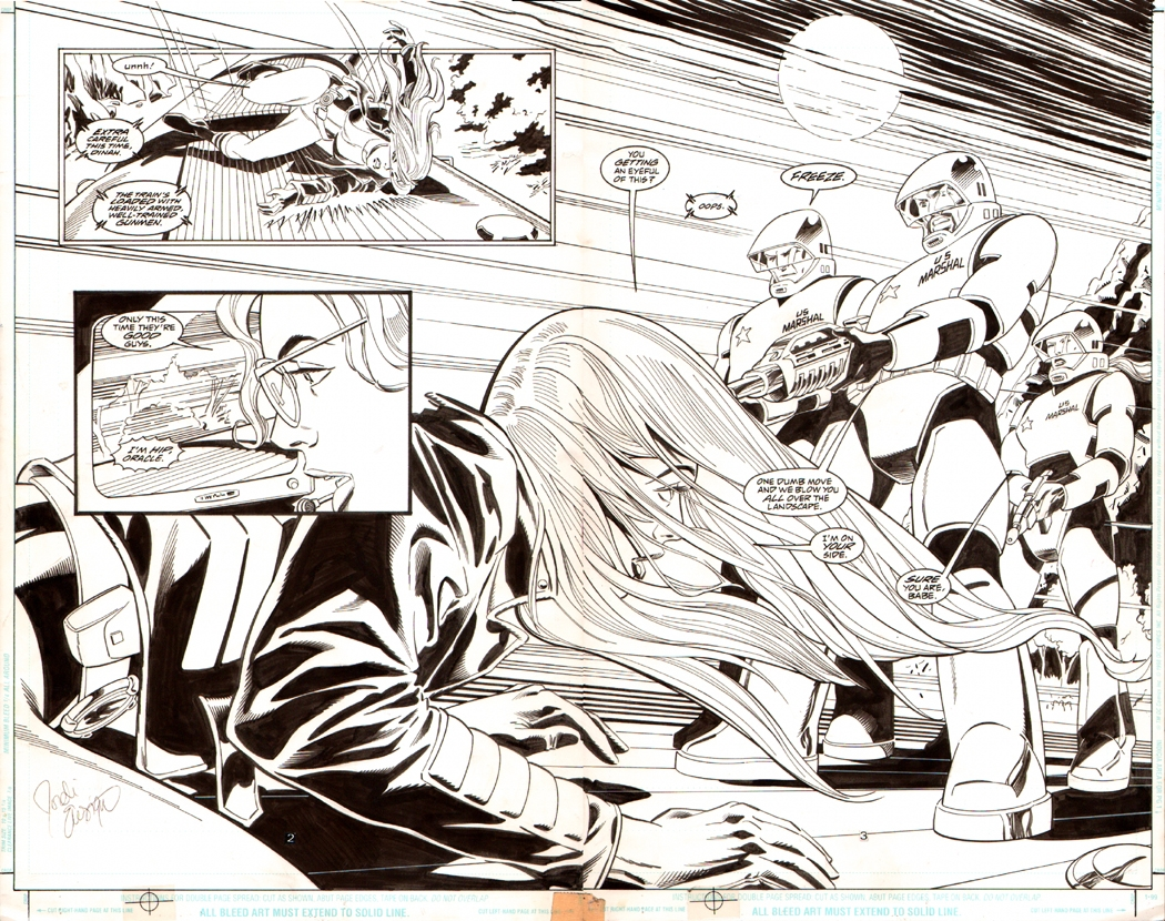 Birds of Prey #12 p 2-3 Double Spread Splash