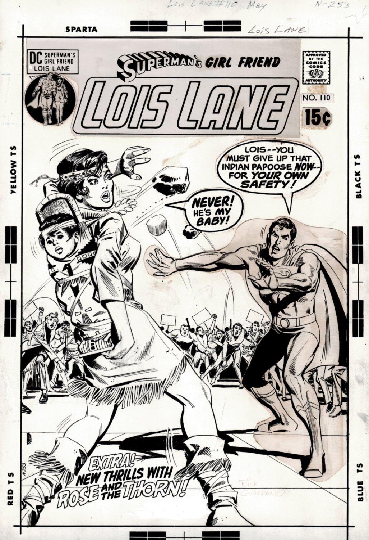 Lois Lane #110 Cover (2 DRAWN SUPERMAN IMAGES!) 1970