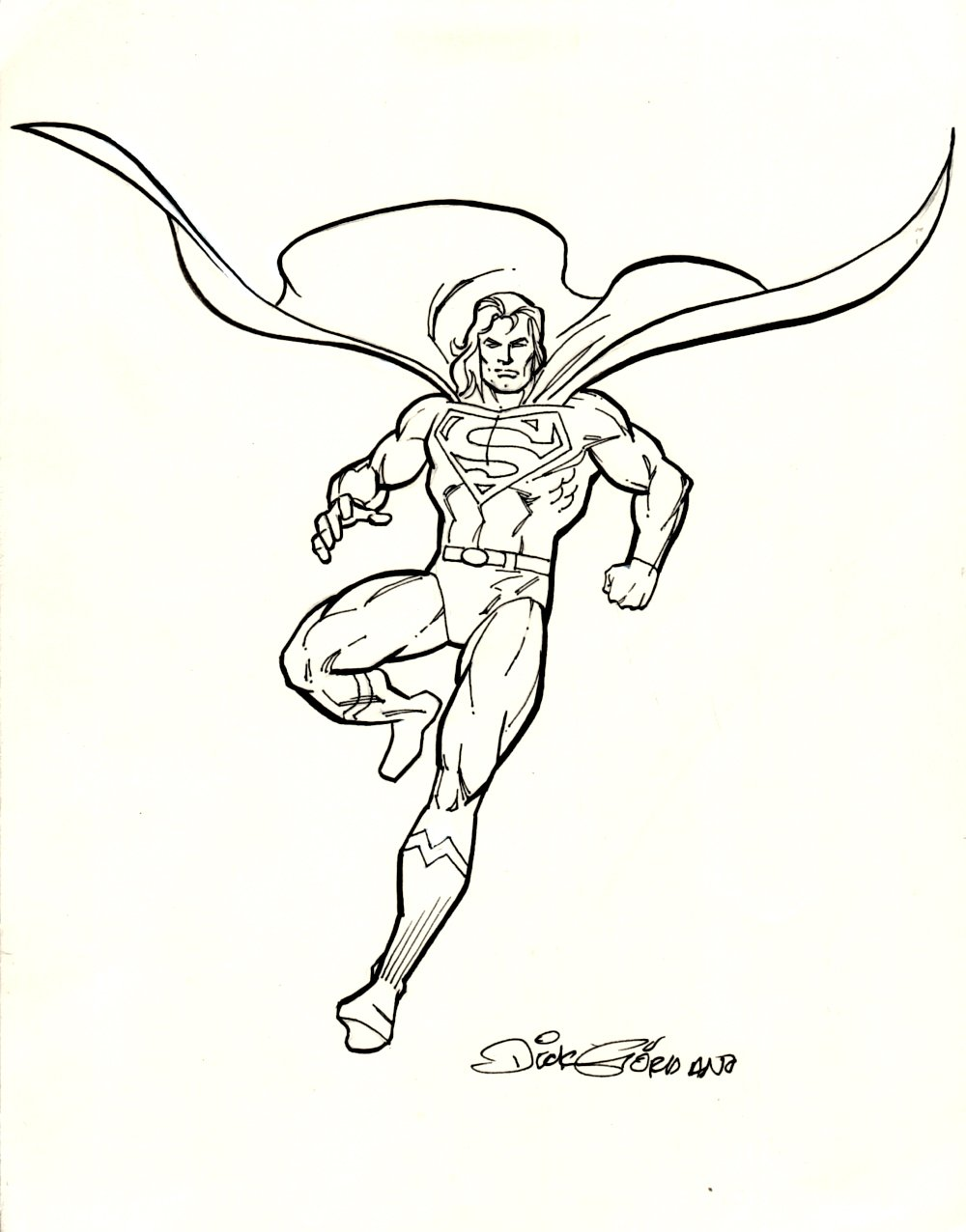 Superman T-Shirt Design(SOLD LIVE ON 'DUELING DEALERS OF COMIC ART' EPISODE #16 PODCAST ON 5-5-2021 (RE-WATCH OUR LIVE ART SELLING PODCAST HERE)