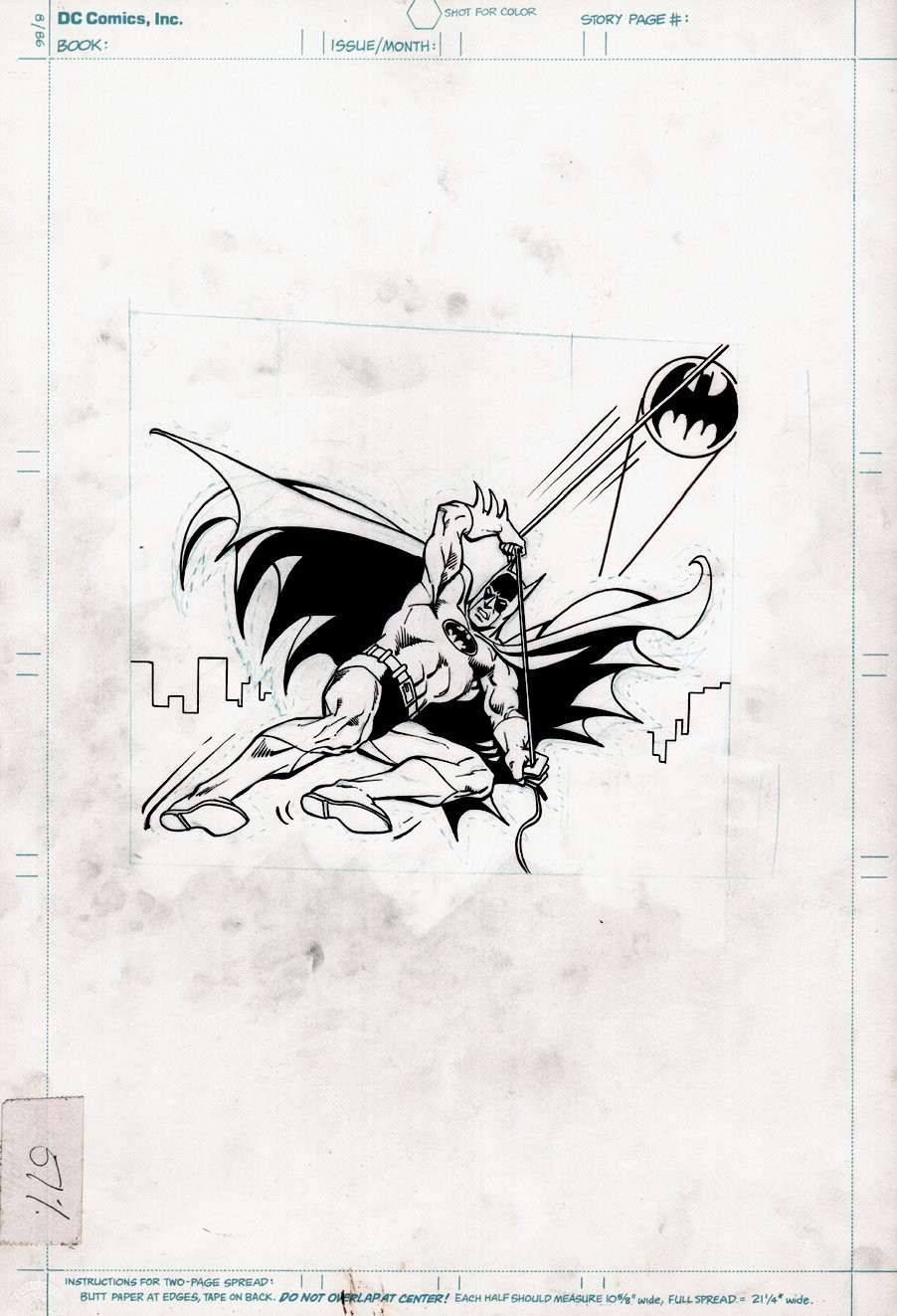 Batman Merchandising Pinup(SOLD LIVE ON 'DUELING DEALERS OF COMIC ART' EPISODE #17 PODCAST ON 5-12-2021 (RE-WATCH OUR LIVE ART SELLING PODCAST