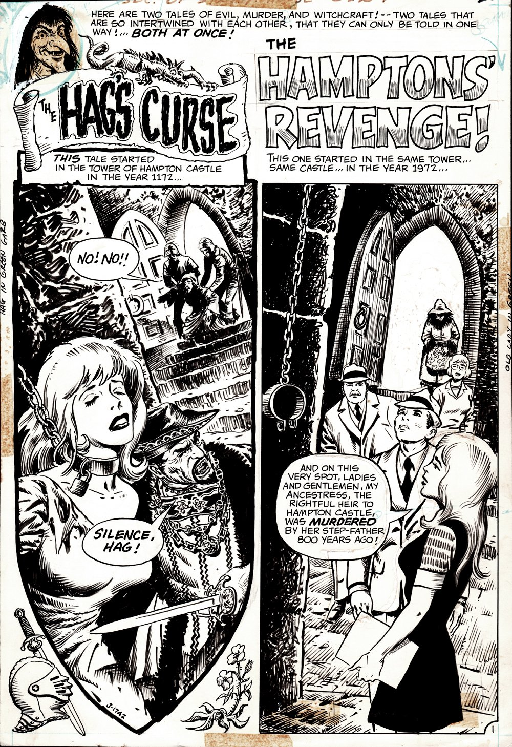 Secrets of Sinister House #7 Complete 8 Page Horror Story (1972)
