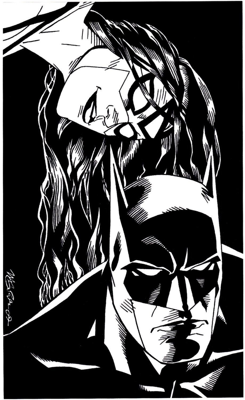Batman & Spider-Woman Pinup (2009)