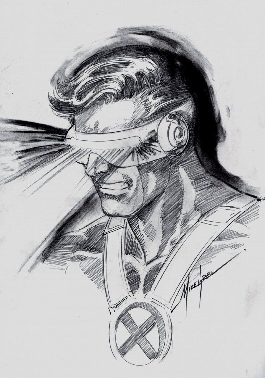 Cyclops Pinup (SOLD LIVE ON 'DUELING DEALERS OF COMIC ART' EPISODE #33 PODCAST ON 8-25-2021(RE-WATCH THIS FUNNY ART SELLING SHOW HERE