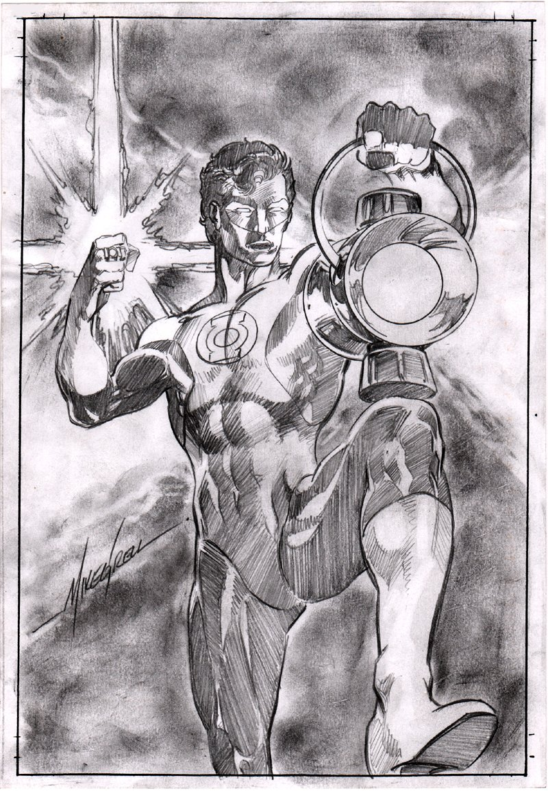 Green Lantern - The '70s #1 Cover Pencils Or Homage Pinup! (2011)