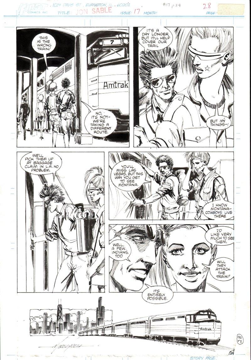 Jon Sable Freelance #17 p 24 (1984)